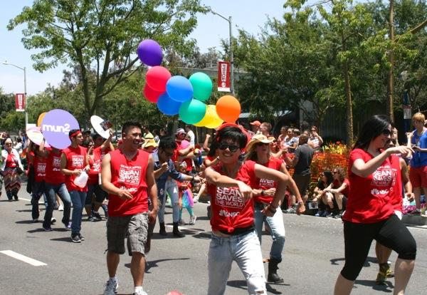 LA Pride Parade 2013 NBC dancers