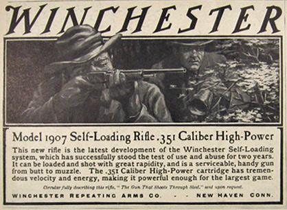 Model 1907 Self-Loading Rifle .351 Caliber High-Power