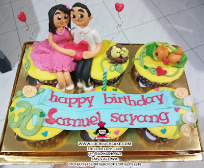 Cupcake Love Bird Romantis Daerah Surabaya - Sidoarjo