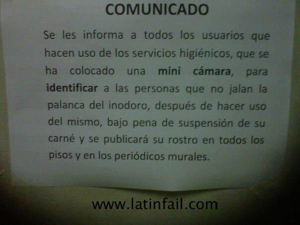 Imagenes De Baño Fuera De Servicio:AVISO+PARA+EL+BAÑO+DE+EBIZ+LATIN+AMERICA+-+LATINFAILjpg