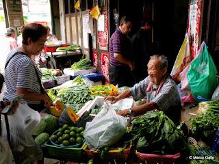 MERCADO CHINO DE ALIMENTACIÓN, BANGKOK. TAILANDIA