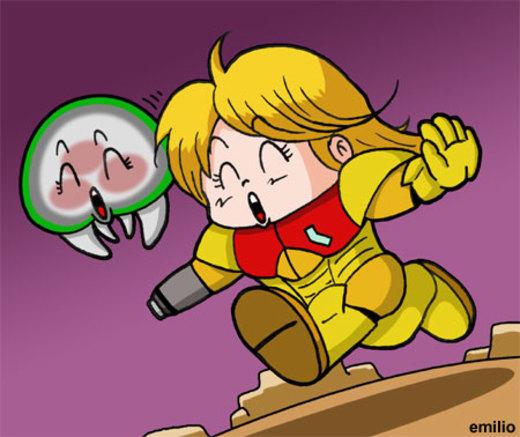 Dr. Metroid Samus chan por emiliosan