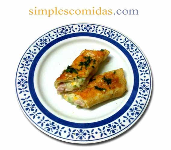 canelones de choclo y jamon