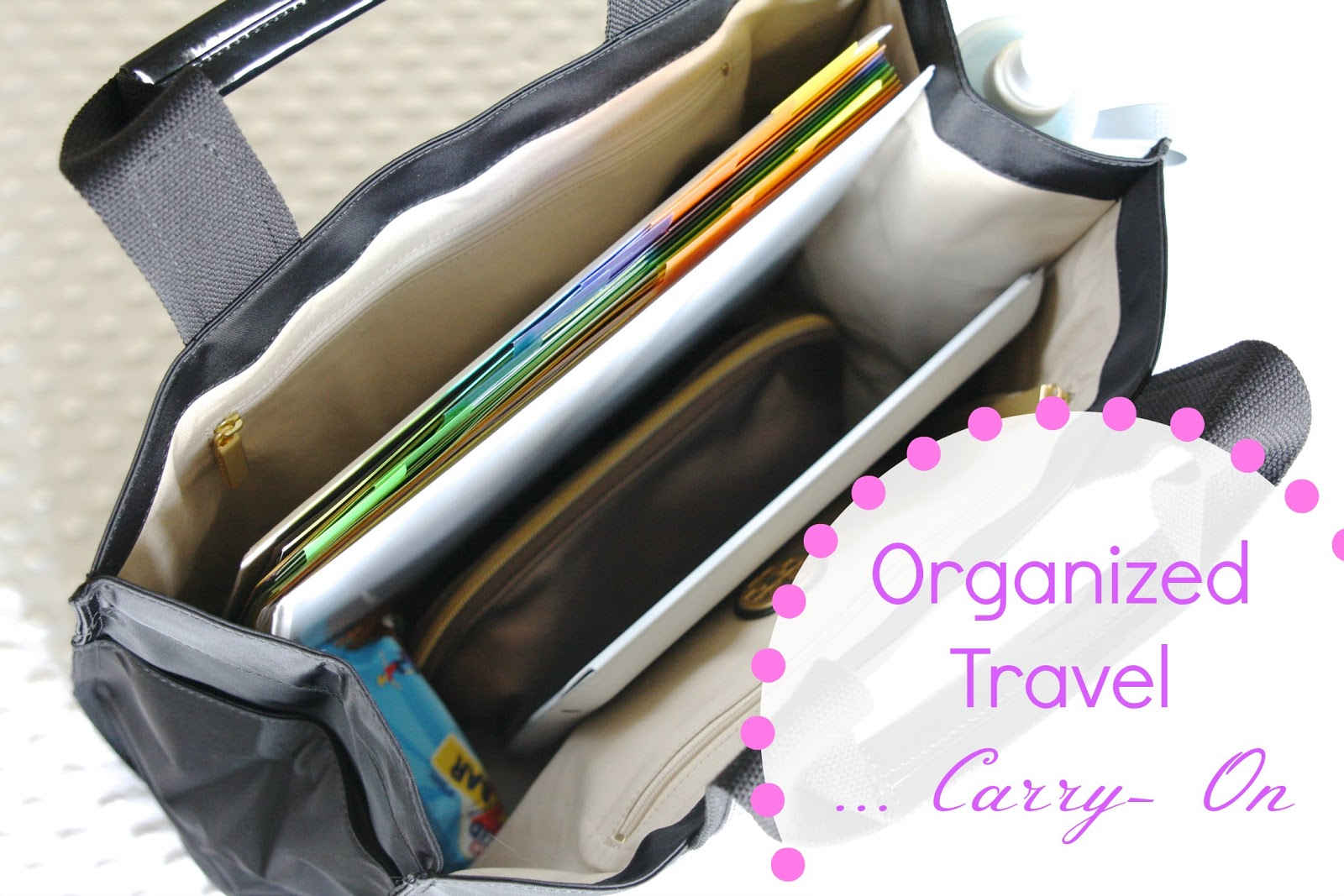 organized travel: carry-on bag