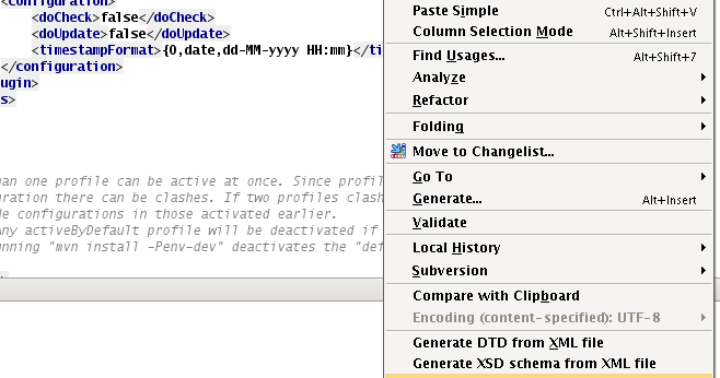 analyse xml file