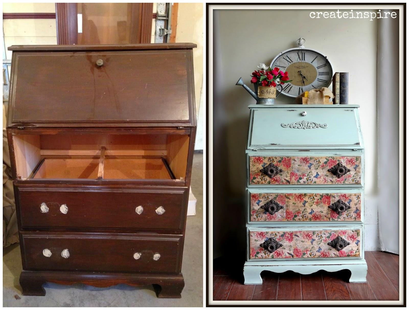 createinspire vintage secretary. Black Bedroom Furniture Sets. Home Design Ideas