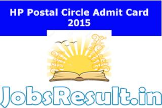 HP Postal Circle Admit Card 2015