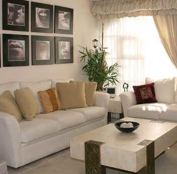 desain ruang tamu minimalis: hiasan dinding kamar tamu