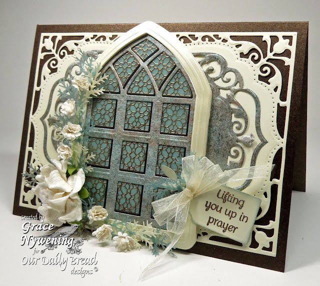 ODBD stamps, Cathedral Window Marble, Mini Tags 3, designed by Grace Nywening