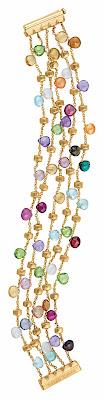 coloured gem stone bracelet