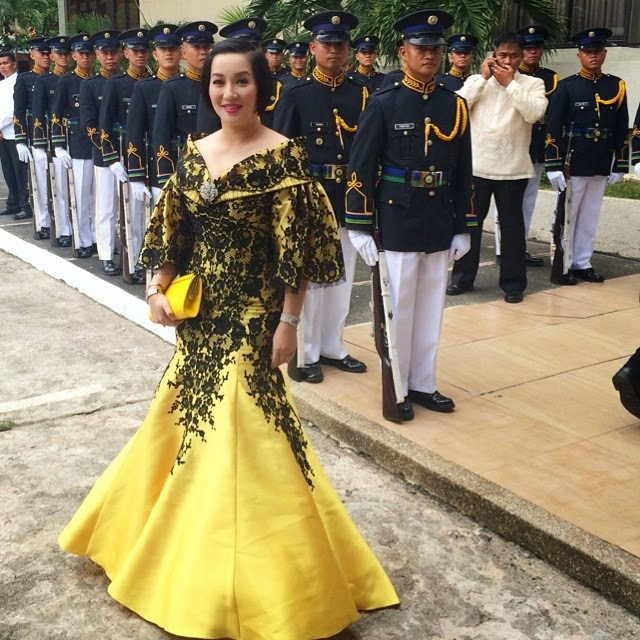 Kris Aquino dress SONA 2014