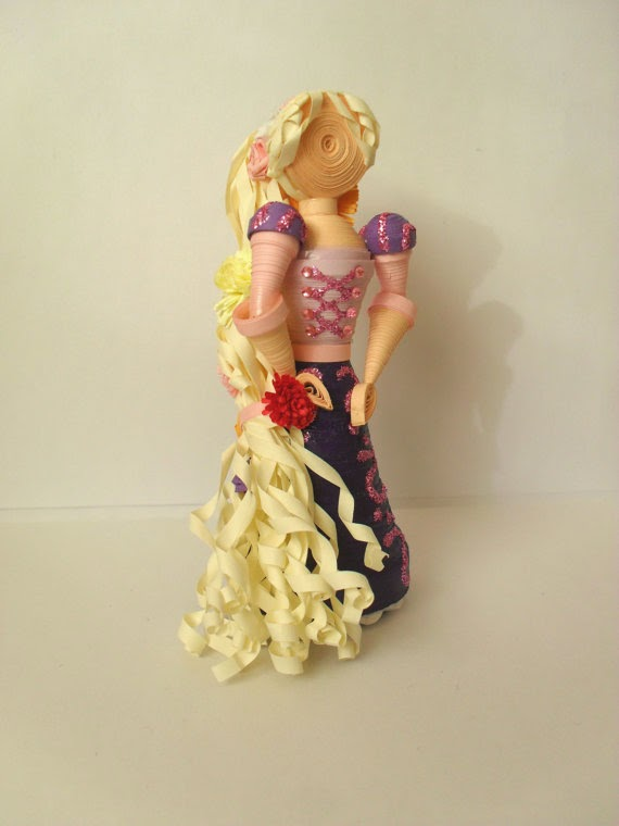 3D paper quilling Disney characters