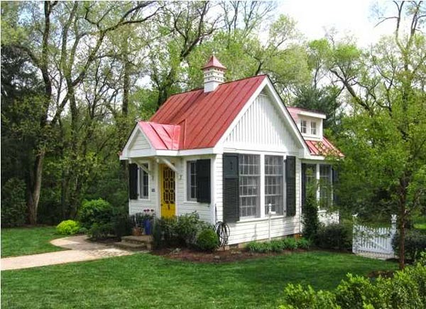 Honey I Shrunk The House Small House With Red Metal Roof