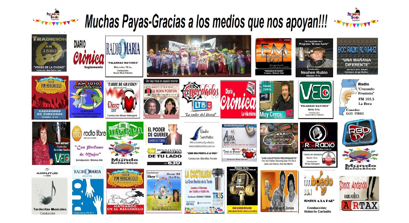 Agradecemos profundamente a los medios que nos dan su apoyo: