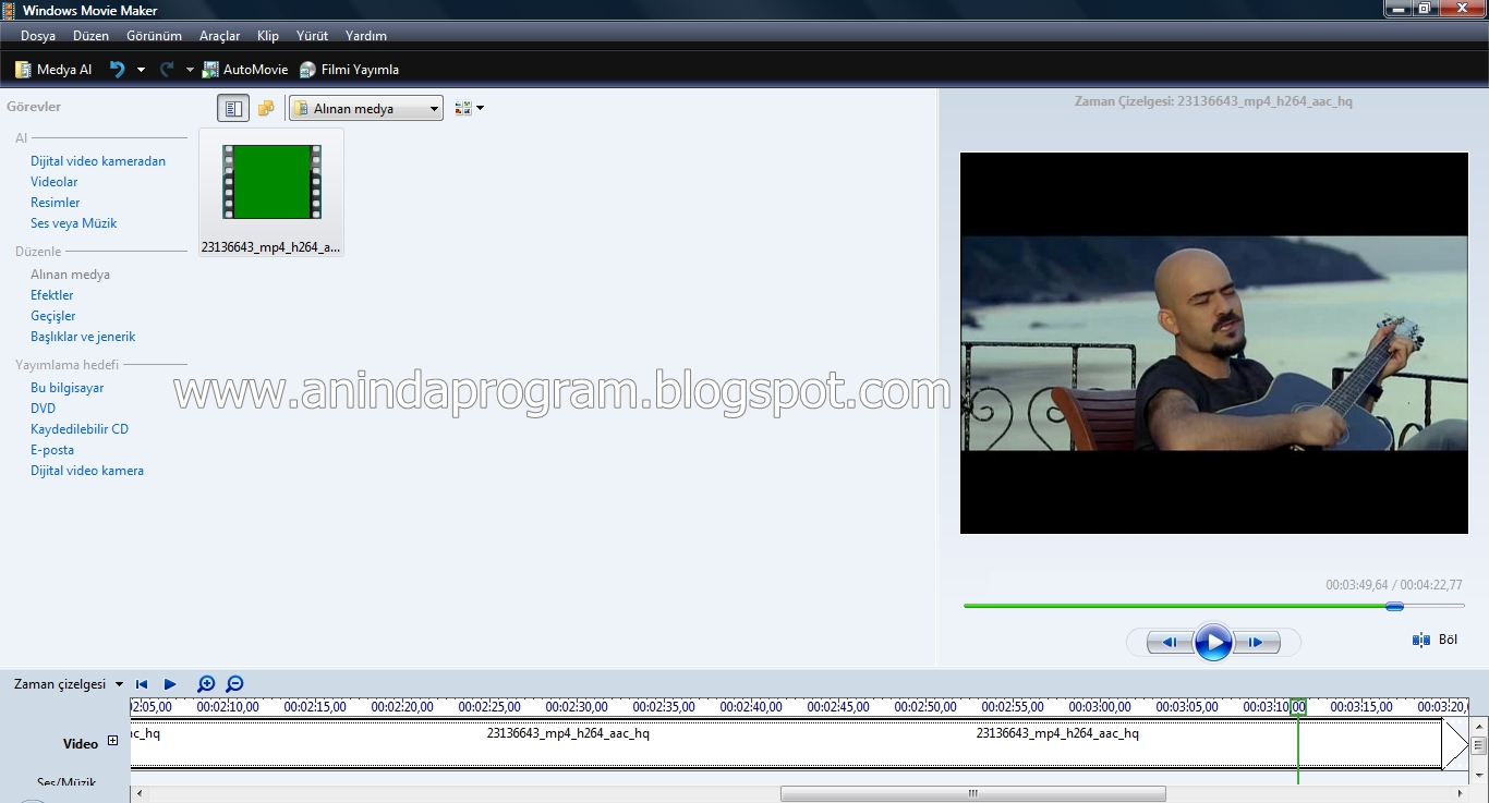 tukatoloji windows movie maker vista İndir