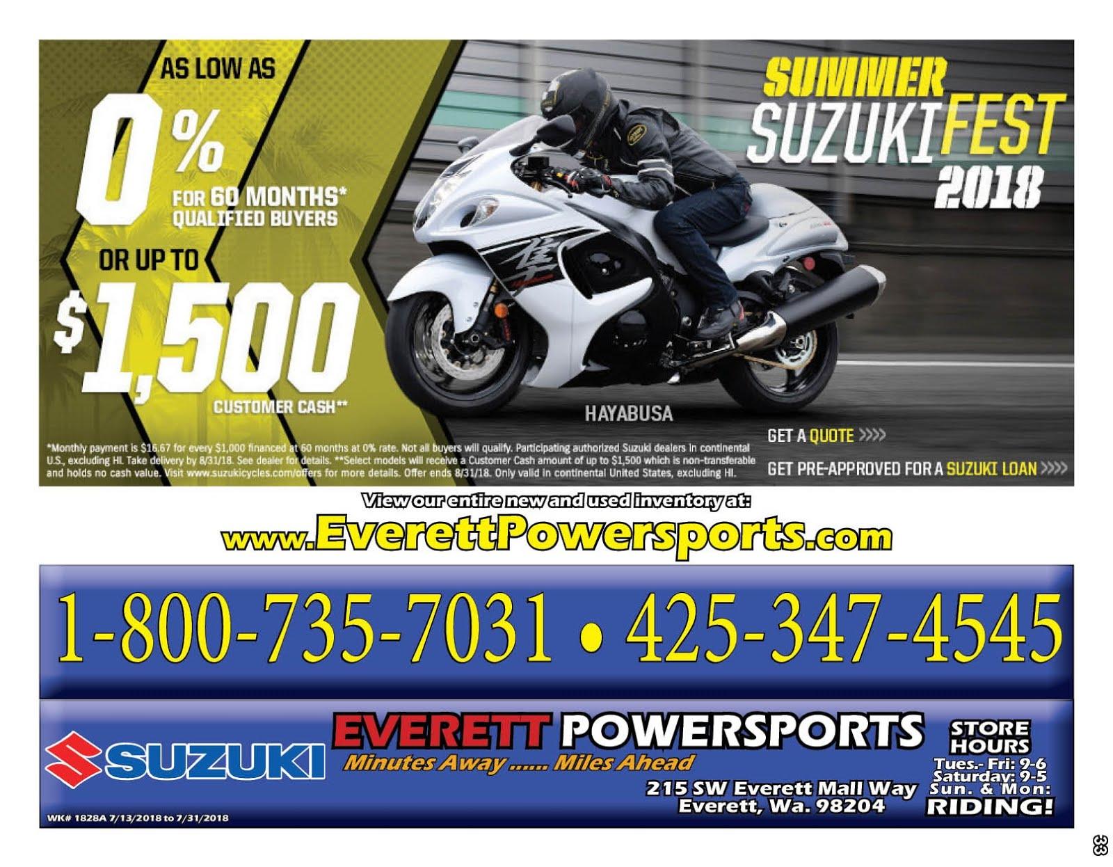 Everett Powersports Suzuki Sale!!