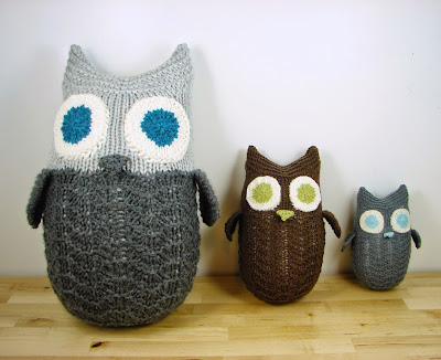 owl, pattern, knit picks, three sizes, woodland, knit, toy, stuffed