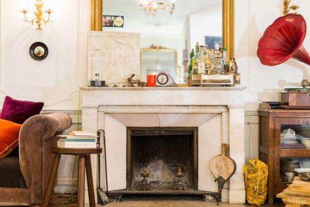 Chimenea estudio parisino estilo clásico