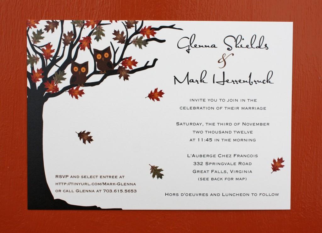 White Wedding Invitations: September Wedding Invitations