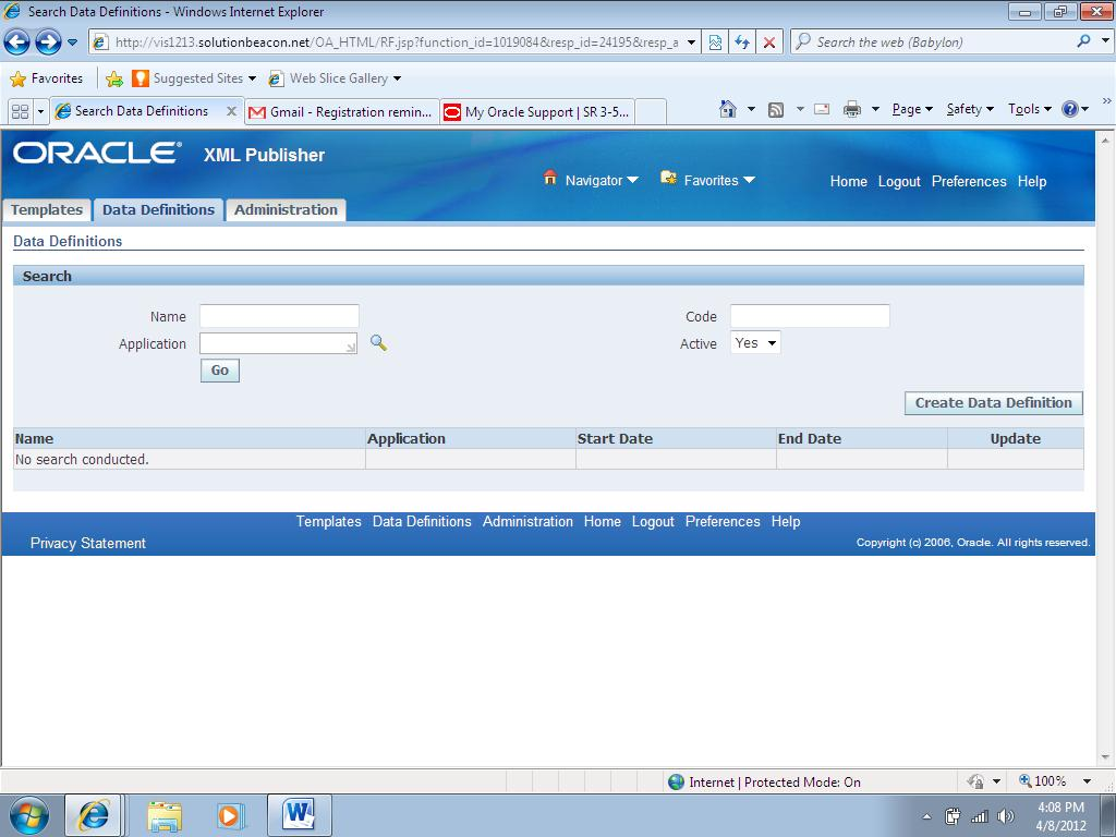 My oracle world how to integrate an xml report with oracle for How to create rtf template for xml publisher