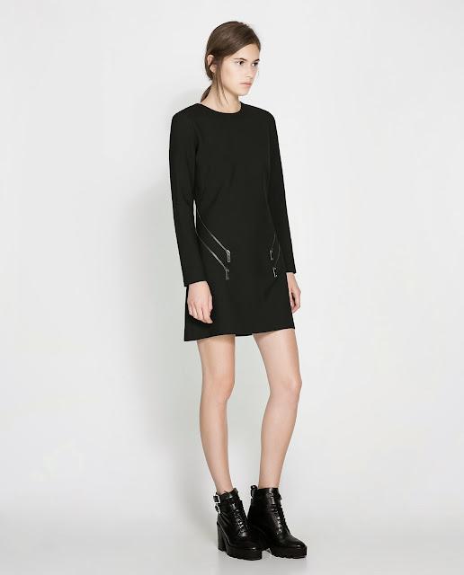 black dress with zips