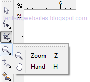 Fungsi zoom tool pada corelDraw