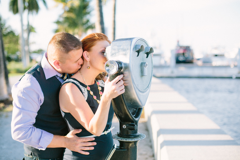 south florida city engagement photography