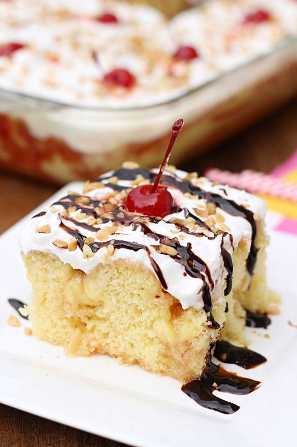 Банана сплит рецепт торт