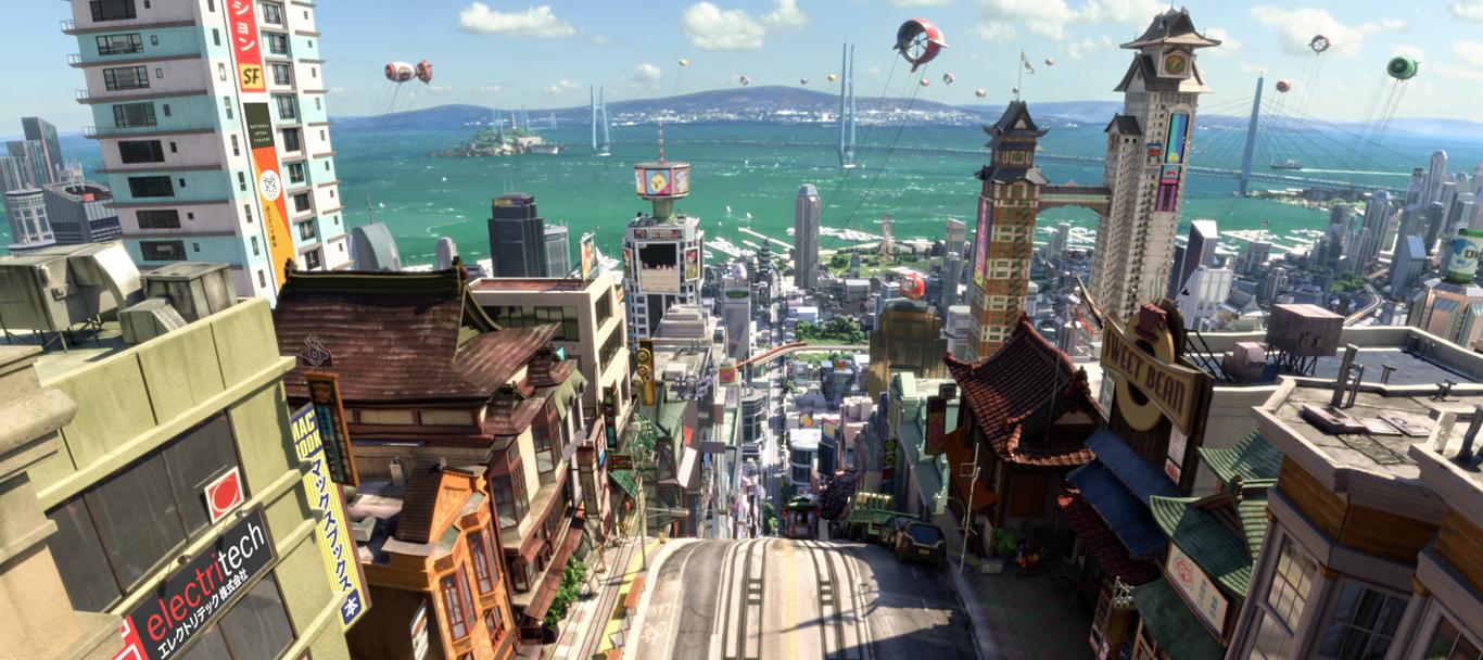 Το Σαν Φρανσόκιο είναι μια φουτουριστική, υβριδική πόλη που δημιουργήθηκε από την Disney ως βάση της ομάδας των Υπερέξι!