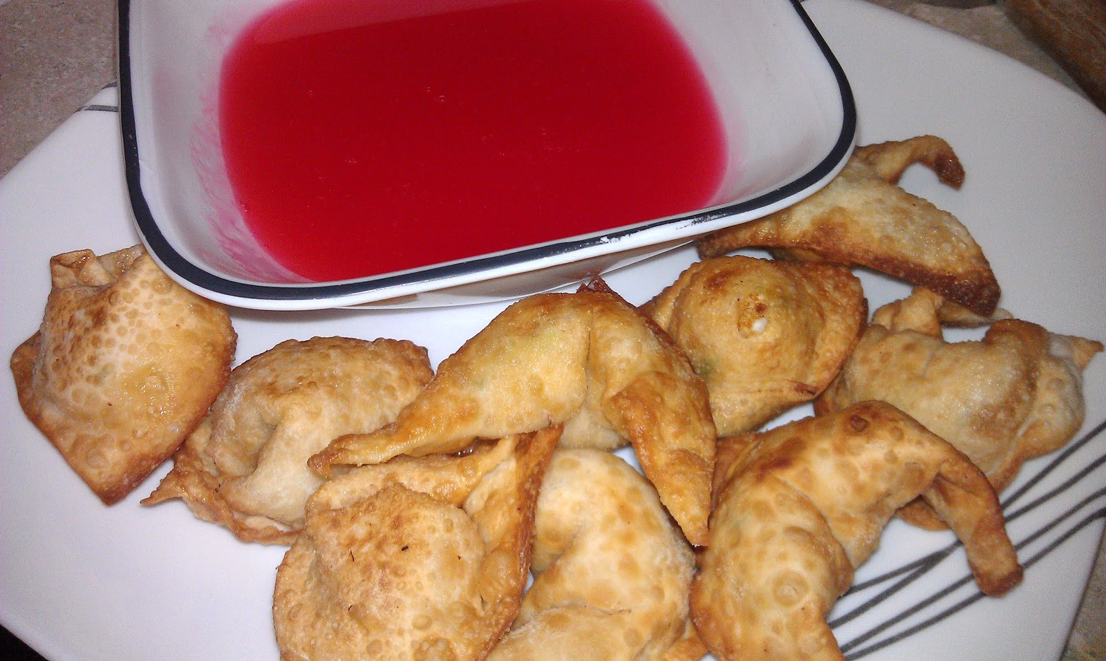 ... Love: Crab Rangoon (Cream Cheese Won tons) with Sweet and Sour Sauce