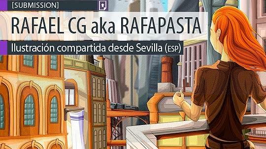 Ilustración. Ciudad futurista de RAFAEL CG aka Rafapasta