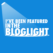 I've been featured in the Bloglight!