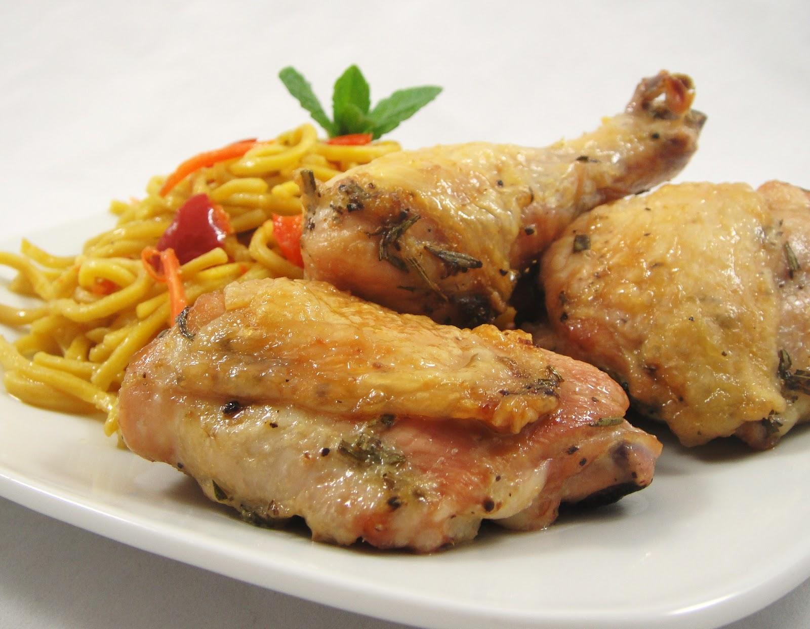 Rosemary Lemon Oven Baked Chicken Legs