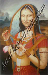 monalisa Indian painting