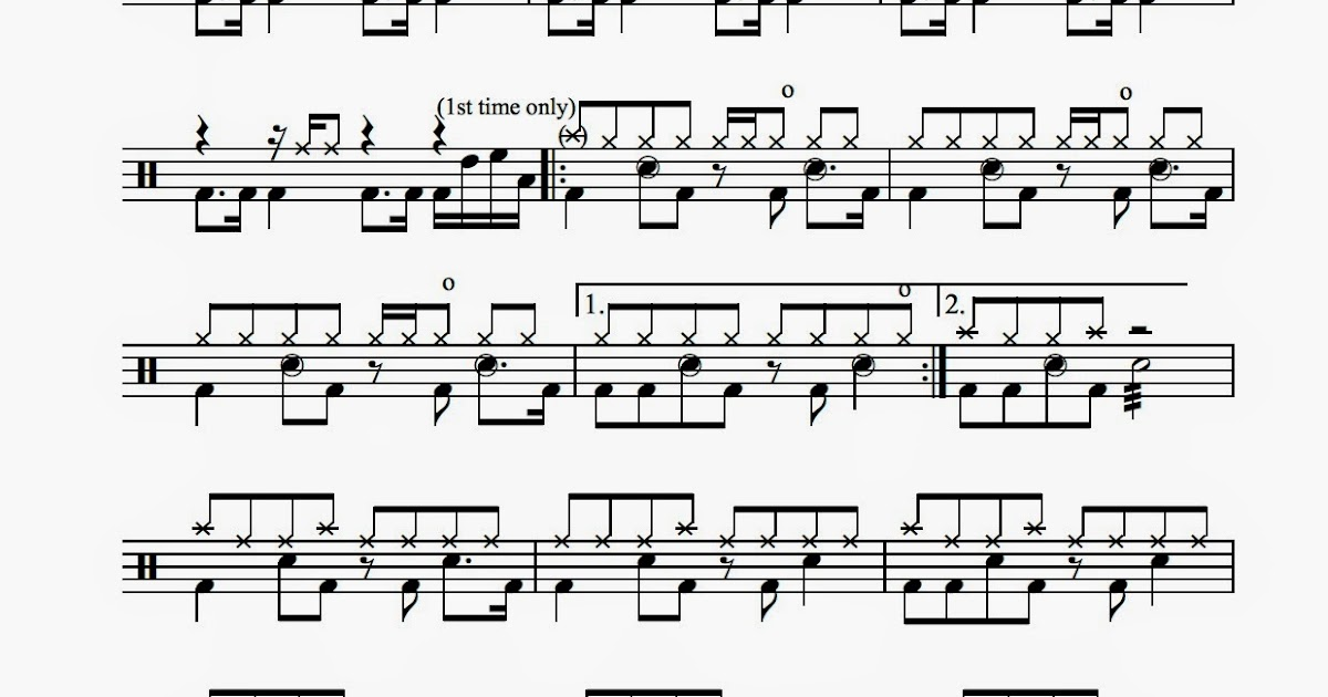 image about Free Printable Drum Sheet Music named Academy Drums: Ranking for Bon Jovi - Preferred Useless Or Alive