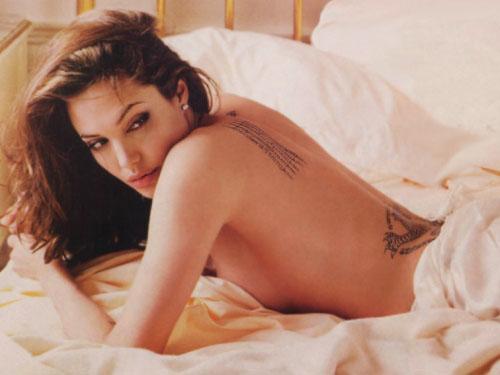 Angelina jolie tattoo art