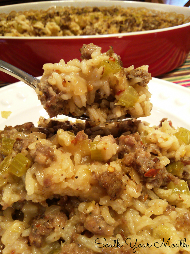 Sausage & Rice Casserole South Your Mouth