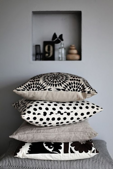 graphic patterns on pillows