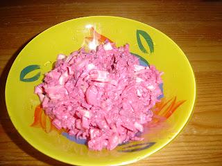 Výsledek receptu na salát z červené řepy a zalí