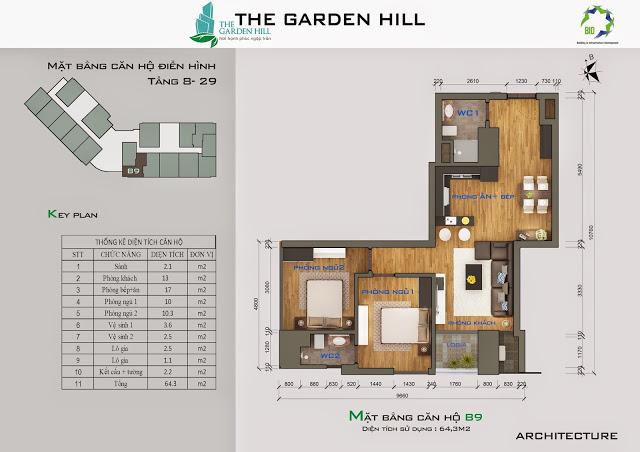 căn b9 chung cư the garden hill