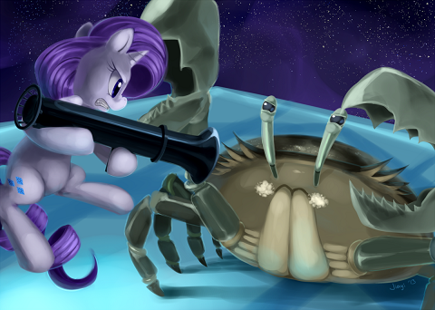 Rarity is good, she relieves tension and the fear of death