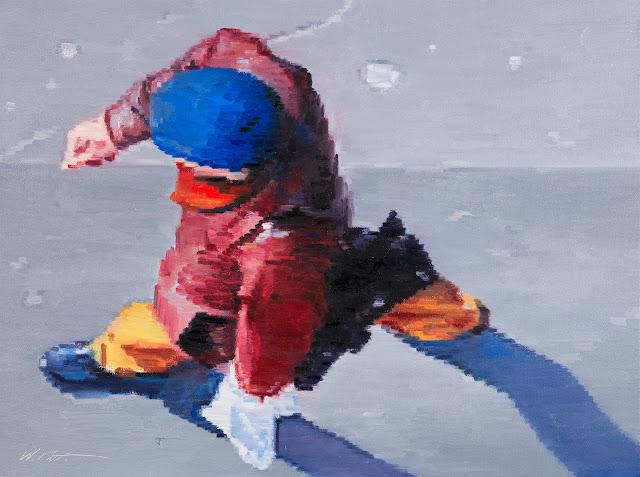 http://www.ugallery.com/oil-painting-man-wearing-blue-cap-walking-in-paris