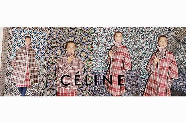 Celine FW 2013 White Line Tarten Coat