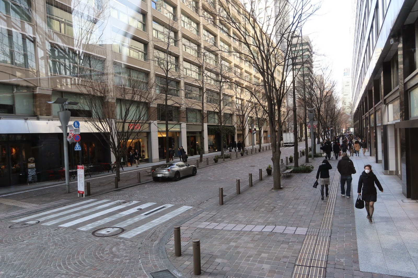 This is a shopping street at Marunouchi district and close to Tokyo Station in Tokyo, Japan