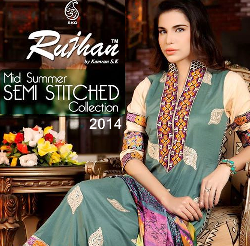 Rujhan Semi Stitched Collection 2014