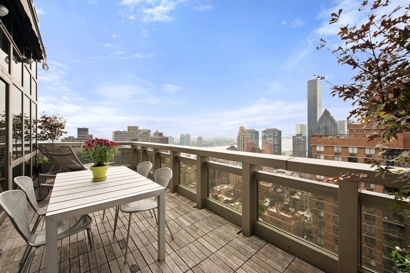 Terrace in Wolf of Wall Street Manhattan Apartment