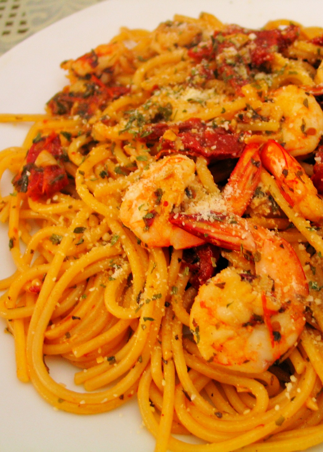 Spicy Shrimp & Sun-dried Tomato Pasta