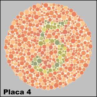 Teste de Ishihara- Placa número 4