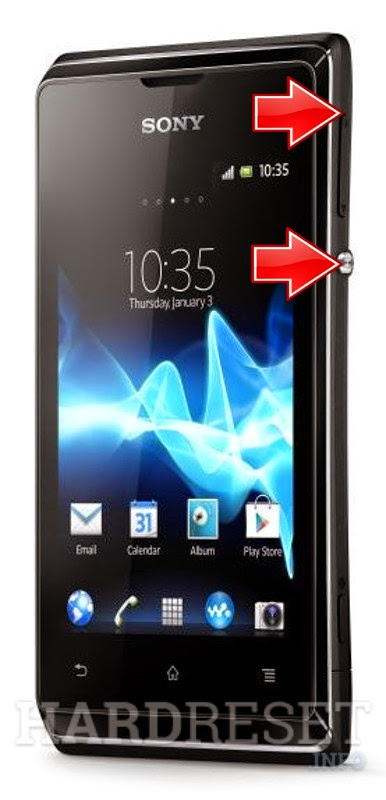 sony xperia e dual c1604 hard reset making