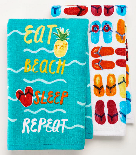 Beach Words Kitchen Towel